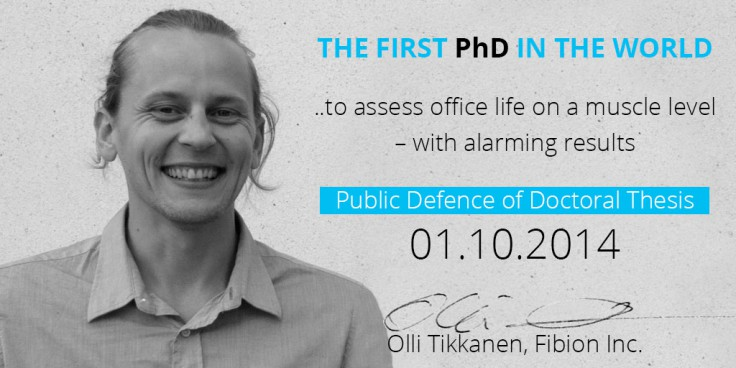 Fibion.com-Olli Tikkanen Public Defence - Over 65% of the time muscles are inactive